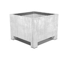 Vadim contemporary galvanised steel square planter