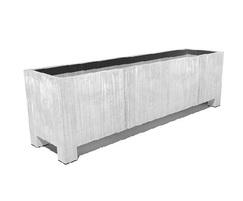 Vadim contemporary galvanised steel trough planter