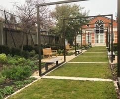 NatraTex Cotswold in garden area for London school