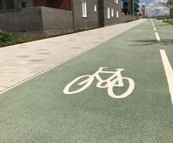 NatraTex Colour Green surfacing used for a cycleway