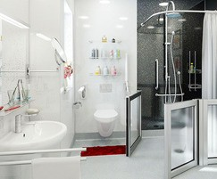 Multipanel WetFlor™ Quicksilver flooring in wet room