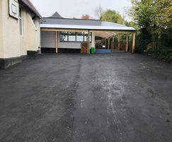 New tarmac surfacing was laid at the school entrance