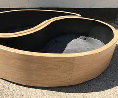 Bespoke Ying Yang design with veneer finish