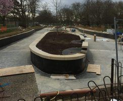 Pond and island feature before refurbishment