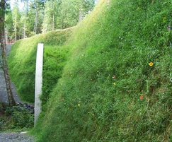 FlexMSE® vegetated wall system - after