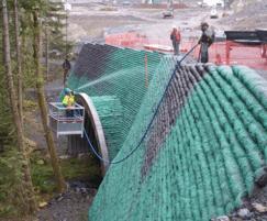 Hydroseeding vegetated wall system