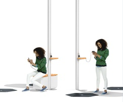 WiFi connectivity and seating with luminaire