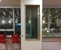 Kudos partitions can be fully or partially glazed