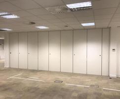 Prestige acoustic partition by Moving Designs Ltd