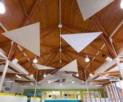 Serenity sound absorbing acoustic ceiling clouds