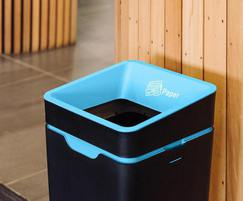 Open lid recycling bin options for easy of use