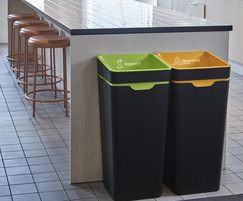 Interior waste bins for organics and recycling
