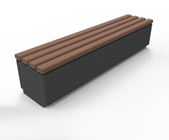 Kerry concrete and wooden bench - large
