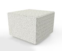 Rossa concrete cube seat - light