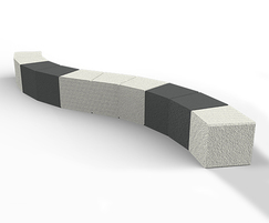 Shrewsbury bench has an exposed aggregate finish