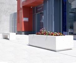 Shropshire planter shown with Colorado bench