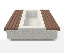 Somerset concrete planter with exposed aggregate finish