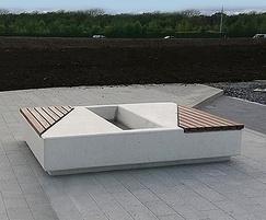 Concrete Planter with Camaru hardwood timber slats