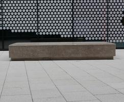 Bespoke linear concrete benches, Stratford, London