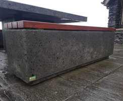 Black exposed concrete Kerry bench