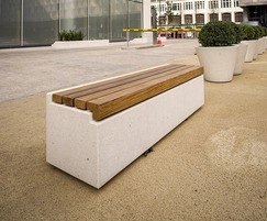 Cheshire Concrete and Hardwood Bench