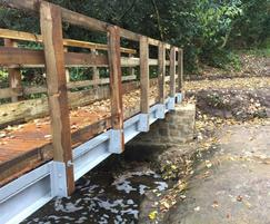 Timber bridges are supplied in kit form