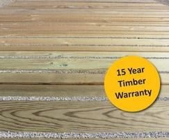15 year timber warranty Anti slip surface