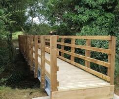 Timber pedestrian bridge