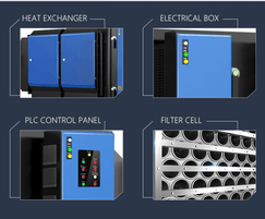 Industrial electrostatic precipitator features