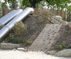 Tube Slides and Climbing Ramp