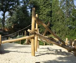 Robinia wood climbing frame