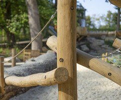 Climbing frame made with robinia wood