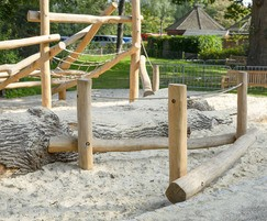 Climbing frame for natural playgrounds