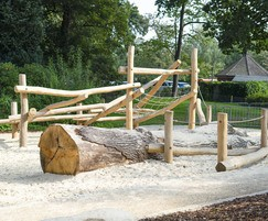 Climbing frame for natural play areas