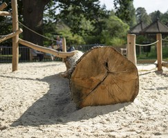 Natural materials for playgrounds