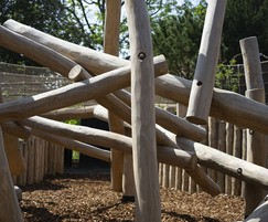 Play equipment made from natural wood