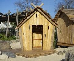 Timber play hut