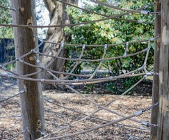 Rope lounger and matrix for climbing frame