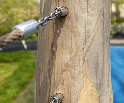 Poles are cross bolted to reduce the risk of splitting