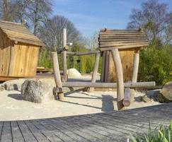 Balance beams for play areas