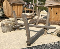 Wooden balance beams