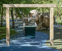 Accessible swing is suitable for disable children