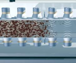 Vibrations breakdown sludge into small particles