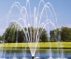 Titan Series Double Trellis floating lake fountain