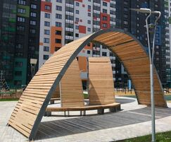 Street furniture and pergolas and My Address, Moscow