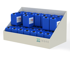 Bunded Chemical Drum Storage Labled