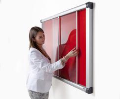 Metropolitan Acrylic Sliding Door Notice Board | Blazem