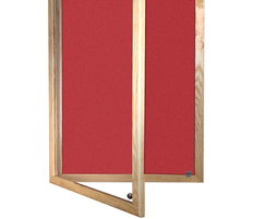 Wooden Framed Lockable Camira Cara Notice Board