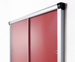 Metropolitan Sliding Door Notice Board
