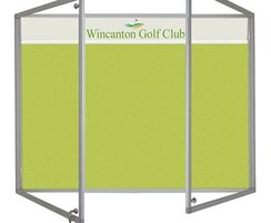 Slimline Lucia Lockable Notice Board with Title Plate